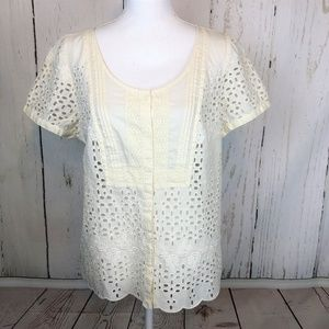 💰2 for $20 American EAGLE eyelet Peasant Top